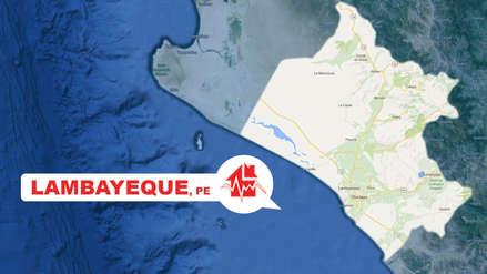 Un sismo de magnitud 5.4 sacudió a la región Lambayeque