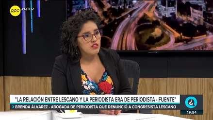 Abogada de periodista: La relación con Yonhy Lescano