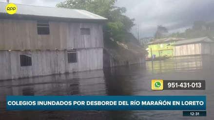 Desborde del río Marañón inundó ocho comunidades nativas de Loreto