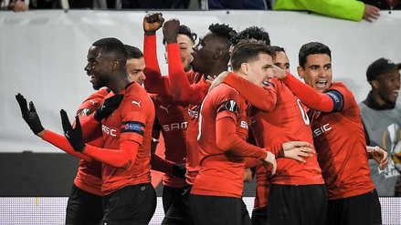 Arsenal cayó 3-1 ante Rennes por los octavos de final de la Europa League