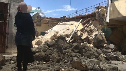 Arequipa   Aula de colegio colapsa a cuatro días de iniciar año escolar [Video]