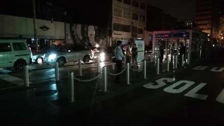 Apagón en el centro de Lima afectó el sistema de cobro del Metropolitano