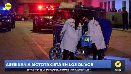 Mototaxista que se negaba a pagar cupos fue asesinado a balazos en Los Olivos