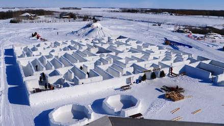 Estas son las fotos del laberinto de nieve más grande del mundo en Canadá