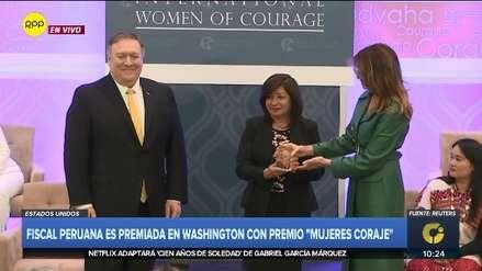 Fiscal peruana recibió premio Mujeres de Coraje en EE.UU. de manos de Melania Trump