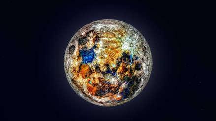 Una espectacular imagen revela los colores ocultos de la Luna