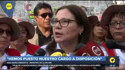 Ministra de la Mujer puso su cargo a disposición tras renuncia de César Villanueva