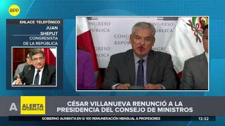 "Juan Sheput sobre el sucesor de César Villanueva: ""No debe entrar en un plano confrontacional"""
