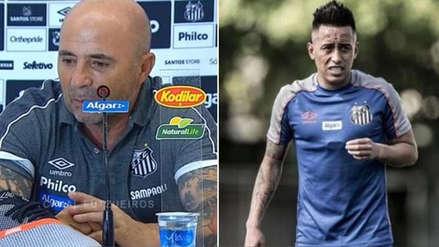 Christian Cueva: Jorge Sampaoli envió un mensaje a peruano tras no incluirlo en Copa Brasil