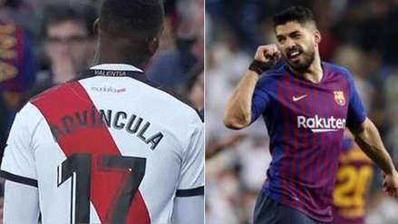 Barcelona vs. Rayo Vallecano: Luis Advíncula y Luis Suárez discutieron por una falta