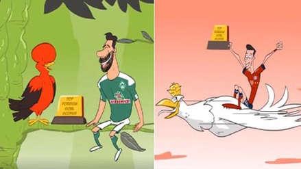 Claudio Pizarro protagoniza divertido video tras récord de Robert Lewandowski