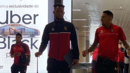 Con Alexi Gómez, Melgar llegó a Brasil para su partido ante Palmeiras
