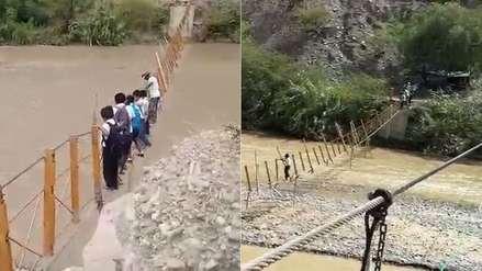 Vidas en riesgo: escolares deberán cruzar puente dañado por lluvias del 2017 en el inicio de clases
