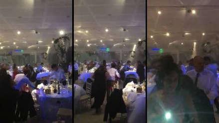 Fuertes vientos destruyen salón de recepción y desatan el pánico durante boda [VIDEO]