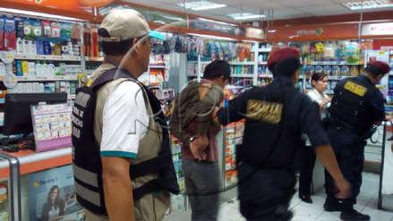 Trabajadores y clientes frustraron asalto a mano armada en farmacia de San Borja