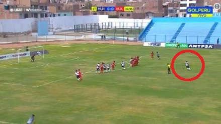 Deportivo Municipal vs. Sport Huancayo: Ricardo Buitrago anotó un golazo de tiro libre al ángulo