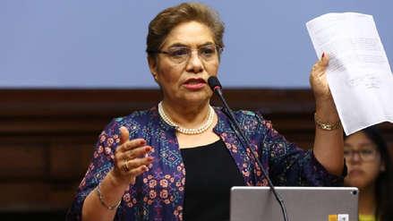 Luz Salgado admite que fue un error separar a los congresistas