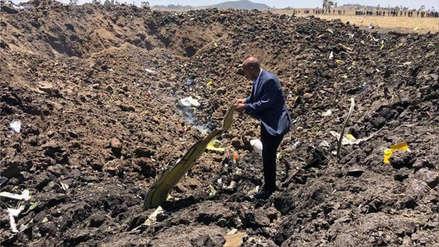 Las primeras imágenes del Boeing que se estrelló en Etiopía y que dejó 157 personas muertas