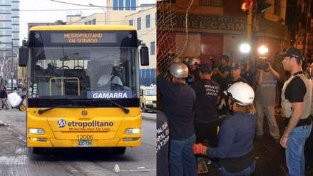 Gamarra: Metropolitano suspende servicio de alimentador por cierre temporal de emporio