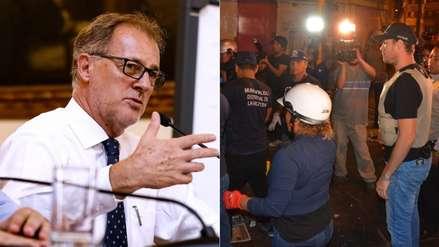Jorge Muñoz destaca el megaoperativo en Gamarra y su cierre por 72 horas impulsados por George Forsyth