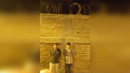 Capturan a dos internos del penal de Chiclayo cuando trepaban una pared para escapar