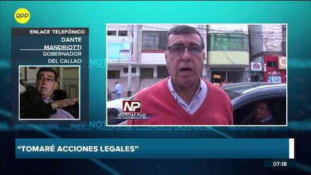 Dante Mandriotti iniciará acciones legales contra su vicegobernador y redoblará su seguridad por audios