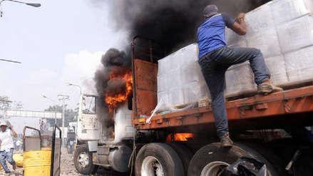 Colombia niega manipulación de video del incendio a convoy con ayuda humanitaria