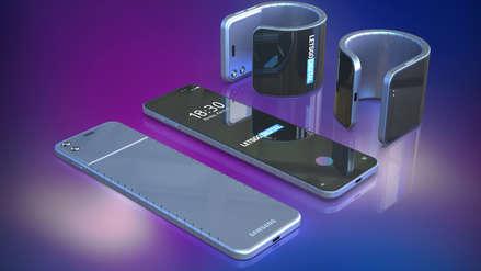 Samsung patentó un celular plegable que puede ser usado como pulsera