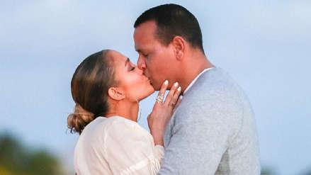 Jennifer Lopez compartió las fotos exclusivas de su compromiso con Alex Rodríguez