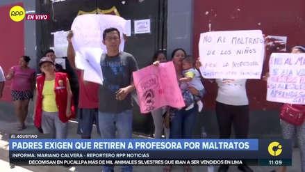 Padres de familia de colegio de El Agustino exigen cambiar a maestra acusada de maltratar alumnos