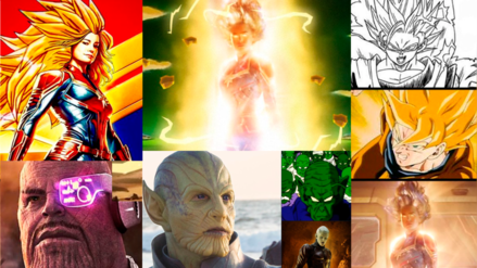 Fans encuentran muchas similitudes entre Dragon Ball Z y Capitana Marvel