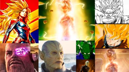 Fans encuentran muchas similitudes entre Dragon Ball Z y Capitana Marvel