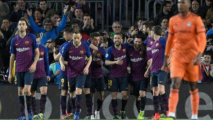 Barcelona avanzó a los cuartos de final de la Champions League tras vencer a Lyon