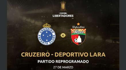 Cruzeiro vs. Deportivo Lara: partido de la Copa Libertadores se postergó por problemas en Venezuela