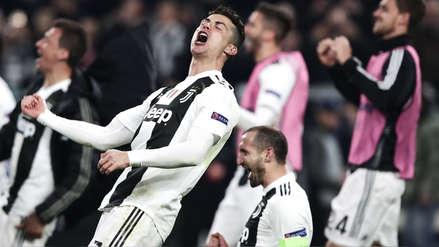 Cristiano Ronaldo celebra la clasificación de Juventus a los cuartos de  final de la Champions League f99e214972975