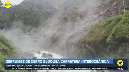 Derrumbe de cerro bloqueó la carretera Interoceánica en Puno [VIDEO]