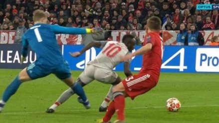 Bayern Munich vs. Liverpool: Mané anotó y dejó en ridículo a Manuel Neuer en Champions League