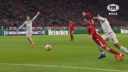 Bayern Munich vs. Liverpool: Robert Lewandowski cayó a área y el Allianz Arena reclamó penal