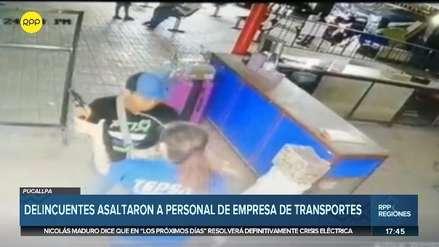 Cámaras de seguridad captaron asalto a agencia de viajes en Pucallpa