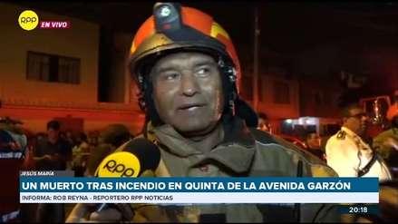 Un anciano murió en incendio que afectó a una quinta de viviendas en Jesús María