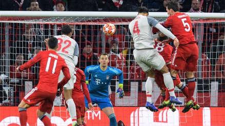 Bayern Munich vs. Liverpool: el golazo de cabeza de Virgil van Dijk por la Champions League