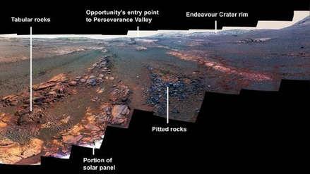 La NASA divulgó las últimas fotos tomadas por Opportunity en Marte