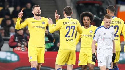 Chelsea goleó 5-0 a Dinano Kiev y clasificó a los cuartos de final de la  Europa League 2018-19