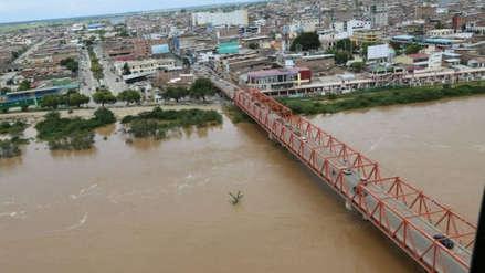 Alerta roja: caudal del río Tumbes aumenta y corre el riesgo de desbordarse en las próximas horas