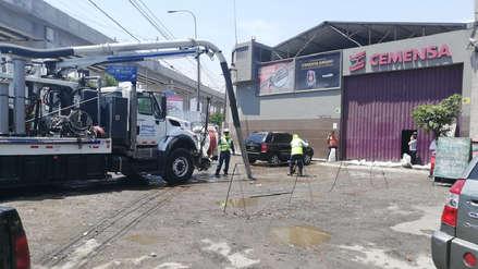Sedapal: Aniego en San Juan de Lurigancho fue controlado