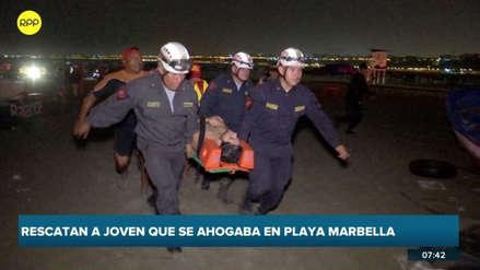 Policía rescató a joven bajo los efectos del alcohol que casi se ahoga en playa de Magdalena