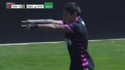 Raúl Ruidíaz anotó un gol por octavo partido consecutivo en la MLS con el Seattle Sounders