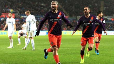 ¡Increíble! Manchester City remontó una desventaja de 2 goles ante Swansea City en menos de 25 minutos
