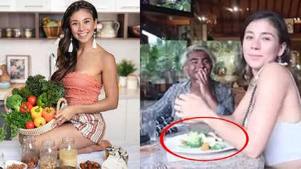 Famosa youtuber vegana fue captada consumiendo pescado en Indonesia