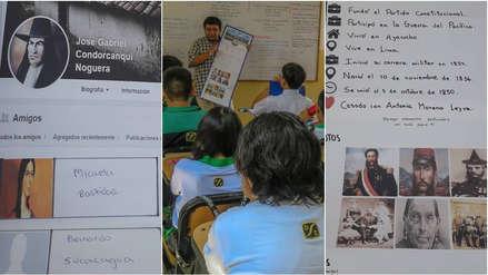 Desde Atahualpa hasta Grau: Profesor iqueño enseña Historia del Perú con perfiles de Facebook